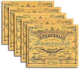 Spencerian Penmanship Set of 5 Copybooks;Spencerian Penmanship