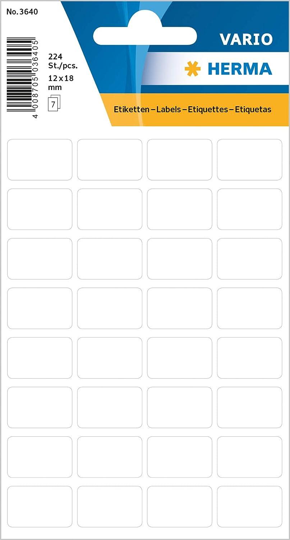 10 x 16 mm, 32 Blatt, Papier, matt 2.592 Haftetiketten permanent haftende Haushaltsetiketten zur Handbeschriftung HERMA 2330 Vielzweck-Etiketten mini selbstklebend wei/ß