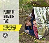 Survival Shack Emergency Survival Shelter Tent | 2 Person Mylar Thermal Shelter | 8 X 5 All Weather Tube Tent | Reflective Material Conserves Heat | Lightweight | Waterproof | Best Survival Gear