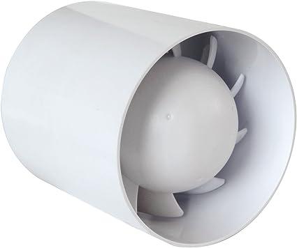 /10,2/cm tubi da 100/mm Ambiente silenzioso silenziosa bagno estrattore senza timer/
