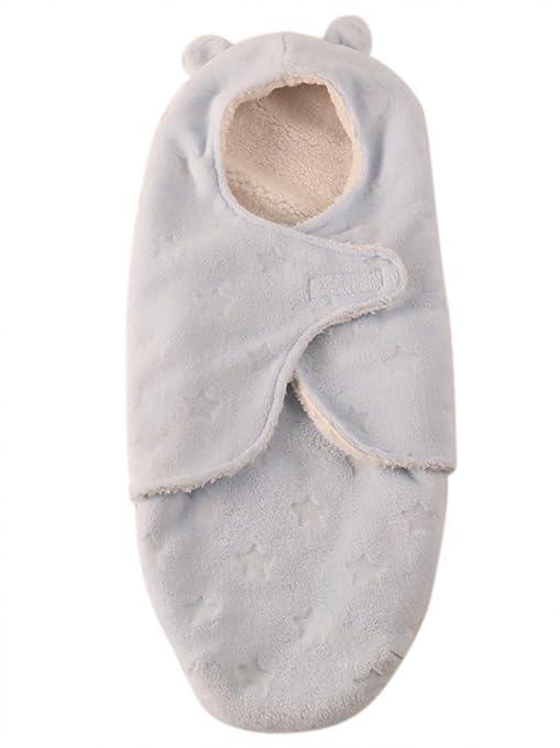Happy Cherry - Manta Arrullo de Forro Polar de Coral Saco de Dormir con Velcro Manta