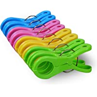 ECROCY 8 Pack Double Thickness Jumbo Size Beach Towel Clips for Beach Chairs Or Lounge Chair - Keep Your Towel from…