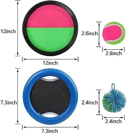 zuiniubi Flying Disc trampolín Paddle y bola Set Frisbee disco ...