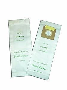 Green Klean® CMP,CPU, 9007744, 90147 CleanMax & CleanMax Pro-Series Tennant V-SMU-14 Tornado CK 14/1 Riccar 4000 and 2000 Series Vacuum Cleaner Bags