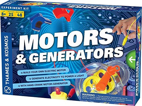 Thames & Kosmos Motors and Generators New Explore How an Electric Generator Converts Motion into Electricity Age: 8 - 15 - Economy International Usps