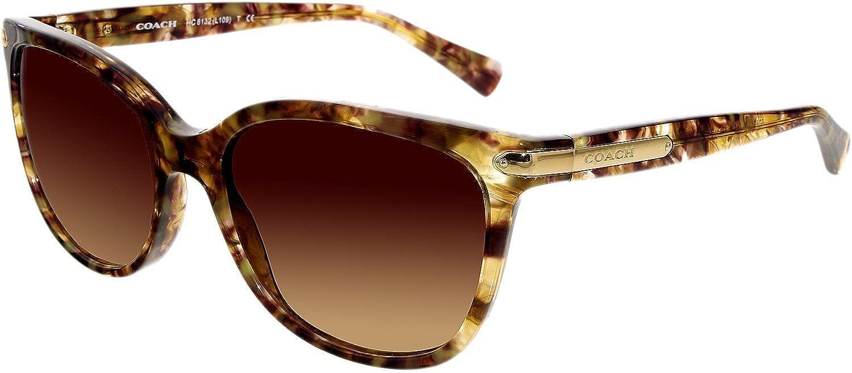 4cd25b9e67 Amazon.com  Coach Women s HC8132 Sunglasses Confetti Light Brown Brown  Gradient 57mm  Coach  Clothing