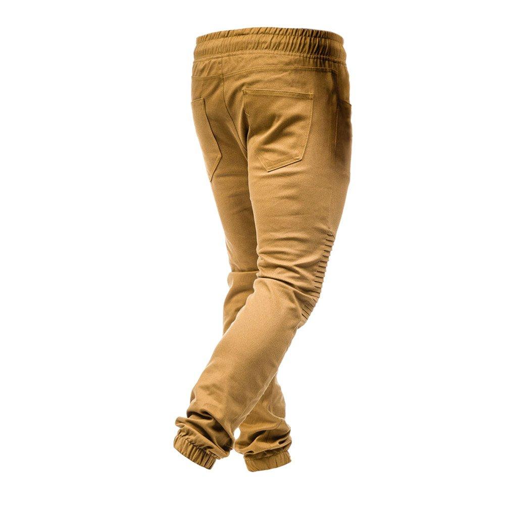 Xmiral Herrenhosen Kordelzug Classic Joggers Pockets Falten Sport Sweat Pants