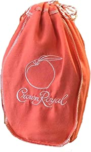 Crown Royal Bag with Drawstring | Orange w/Peach - Peach