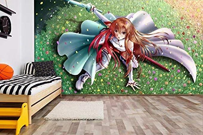 Details about  /3D Sword Art Online I857 Japan Anime Wallpaper Mural Cartoon Wall Mural Amy