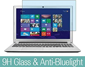 "Synvy Anti Blue Light Tempered Glass Screen Protector for ACER Aspire V5-551 / V5-551G 15.6"" Visible Area 9H Protective Screen Film Protectors (Not Full Coverage)"