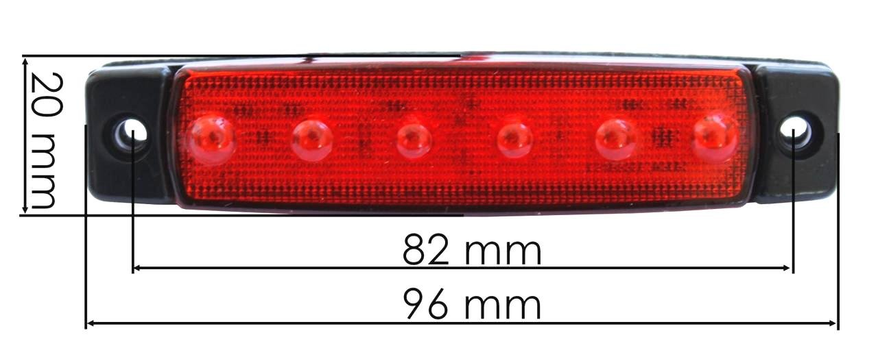 20/x 24/V LED marcador lateral trasero rojo luces cami/ón remolque chasis Camper