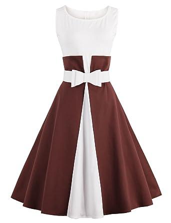 La vogue Damen 50s Vintage Rockabilly Kleider Elegant Partykleider ...