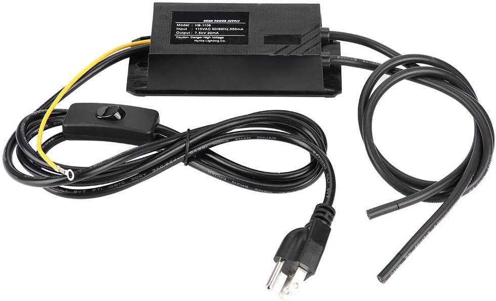 5KV AC 30mA Neon Transformador electr/ónico Carga 1-5m Neon Sign Rectificador de fuente de alimentaci/ón