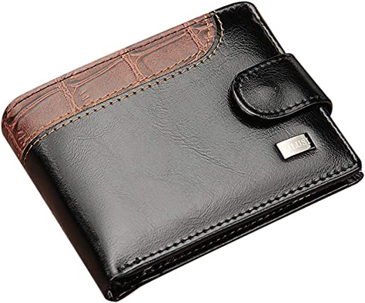 Vintage Men/'s Short PU Leather Bifold Wallet Coin Purse Credit ID Card Holder