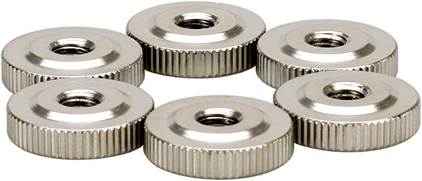 4pcs M6x20x5 304 Stainless Steel Flat Knurled Thumb Round Nut Thin Type