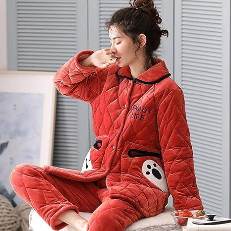 Bayrick Pijamas Mujer Invierno Polar,Pijama de Invierno ...