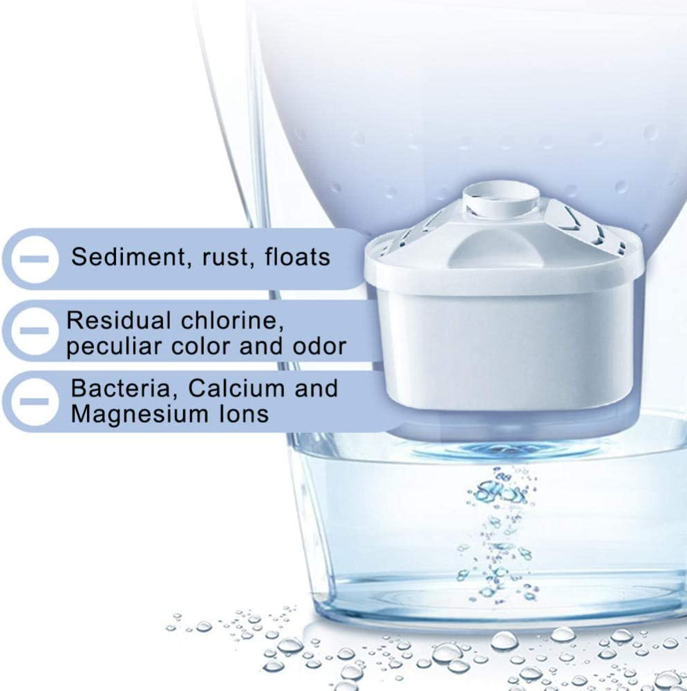 3.5L Hogar Botella De Agua Potable Cocina Grifo Purificador De Agua Filtro De Carbón Activado Portátil-Azul: Amazon.es: Hogar