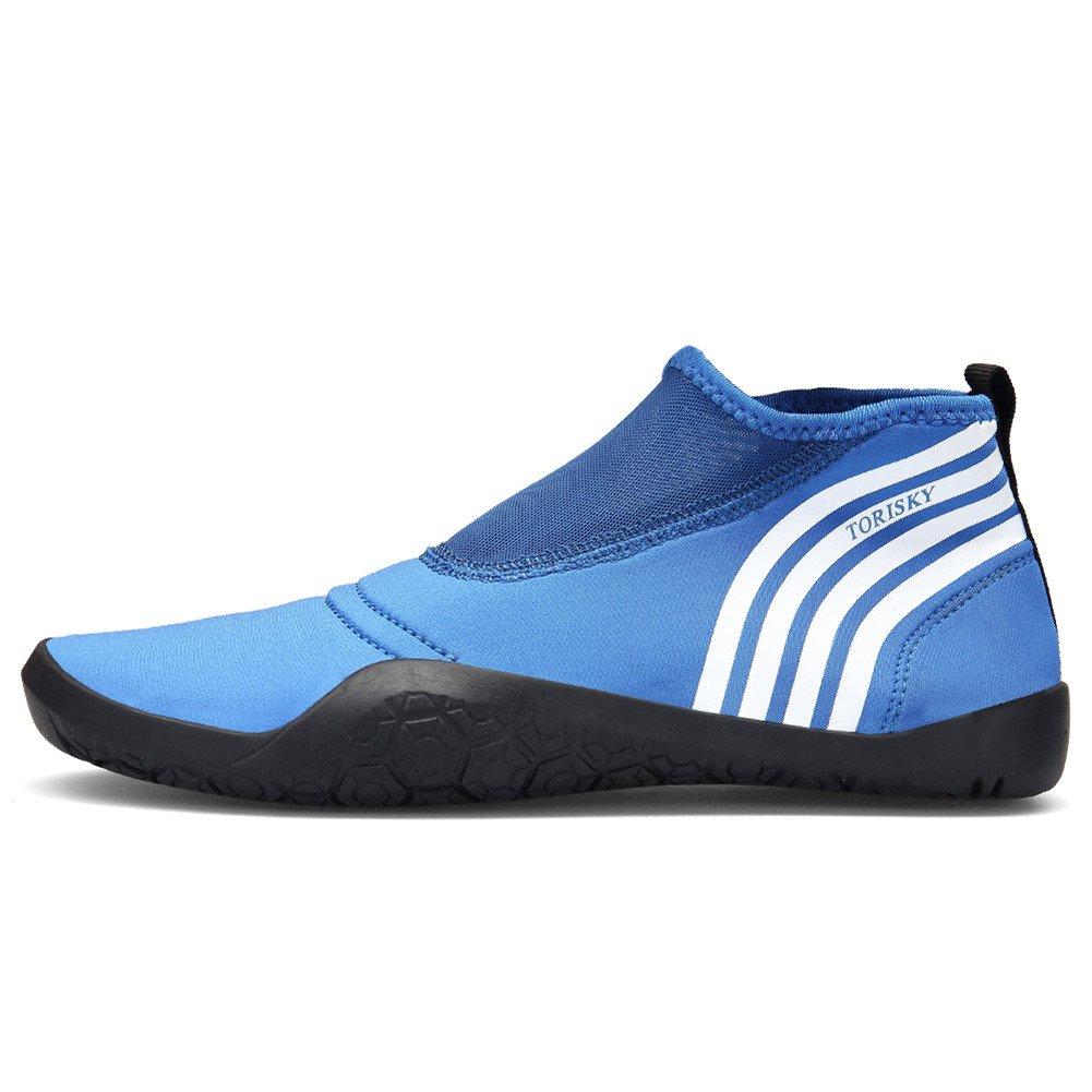 TORISKY Schwimmschuhe Schnorcheln Strandschuhe Aquaschuhe Badeschuhe Wasserschuhe Gym Yoga Schuhe für Damen Herren 36-47EU