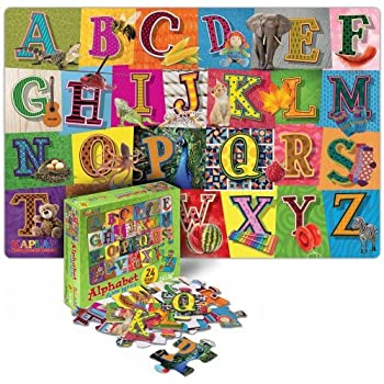 Amazon Com First Learning 26 Piece Wooden Alphabet Floor