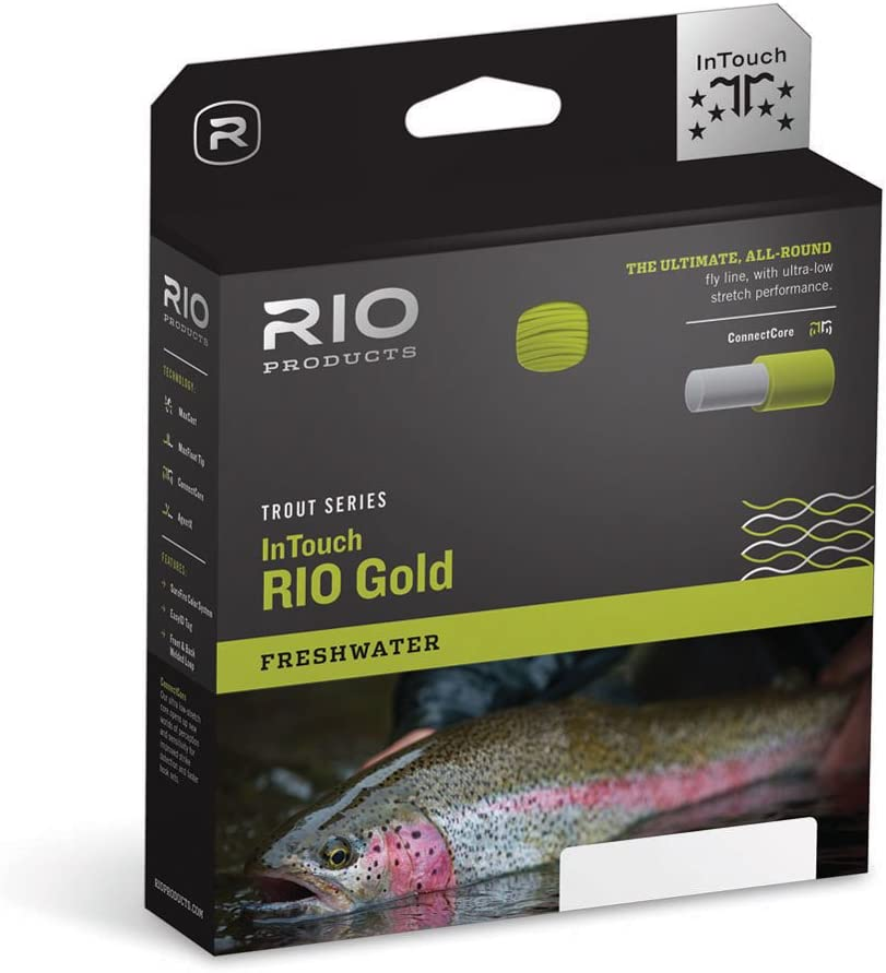 RIO Products Fly Line Intouch-Rio Gold Wf6F, Moss-Gray-Gold
