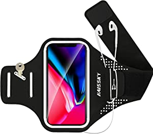 GUZACK Cell Phone Running Armband Phone Holder for iPhone 12 Pro/11 Pro Max/11/XR/XS/X, Galaxy S21/S20/S9/S8 Plus Portability Water Resistant Cell Phone Armband for Jogging, Cycling, Walking, Workout