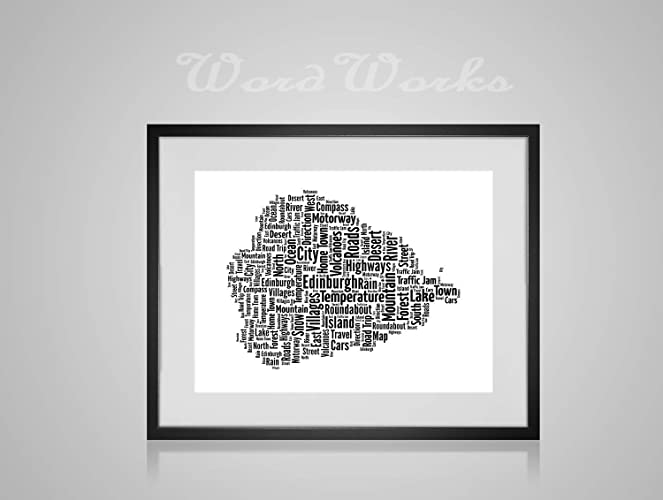 Personalised Music Note Musical Instrument Design Word Art Print Unique Keepsake Gifts