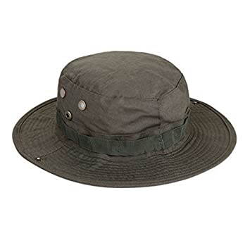 d561e899146 Fablcrew Round Hat Fisherman s Hat Camo Benni Outdoors Climbing Fishing Cap  for Army Green Unisex  Amazon.co.uk  Kitchen   Home