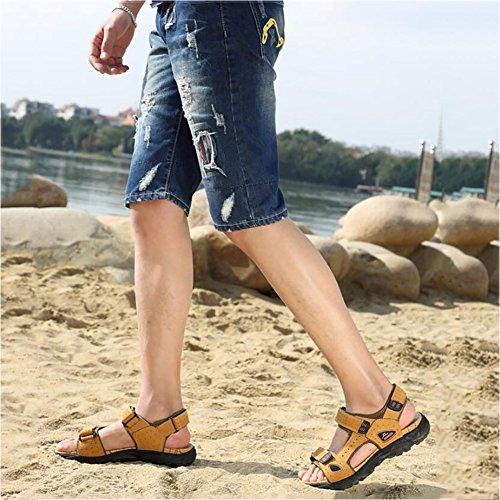 Walking da spiaggia uomo estivi Scarpe gladiatore Outdoor Antiscivolo 2 in Open atletiche Escursionismo da Toe trekking Scarpe Calzature Sandali casual Sport pelle Sandali da tUYq8Pw