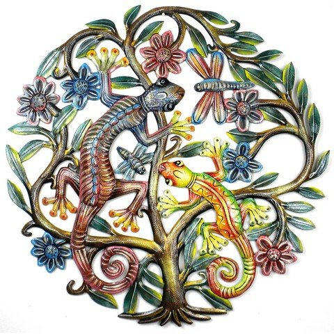 Croix des Bouquets Painted Gecko Tree of Life