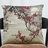 Sykdybz Sofa Cushion Antique China Wind Stamp Cotton Linen Antique Furniture Sofa Cushion The C