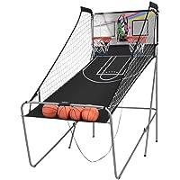 COSTWAY Panier de Basketball Pliable Jeu de Basketball Arcade avec Double Panier et Compteur Electronique