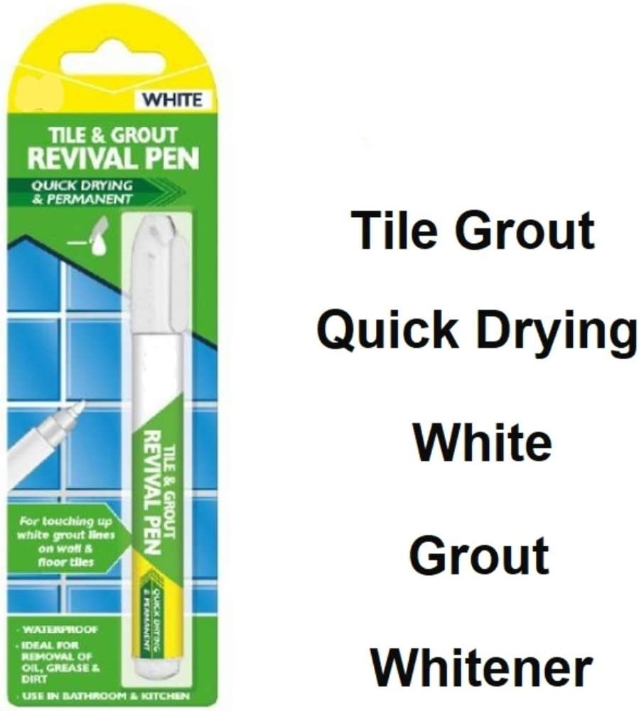 White Tile and Grout Revival Pen BestSeller by Delivered Direct. Restores Discoloured Grout in Your Kitchen or Bathroom