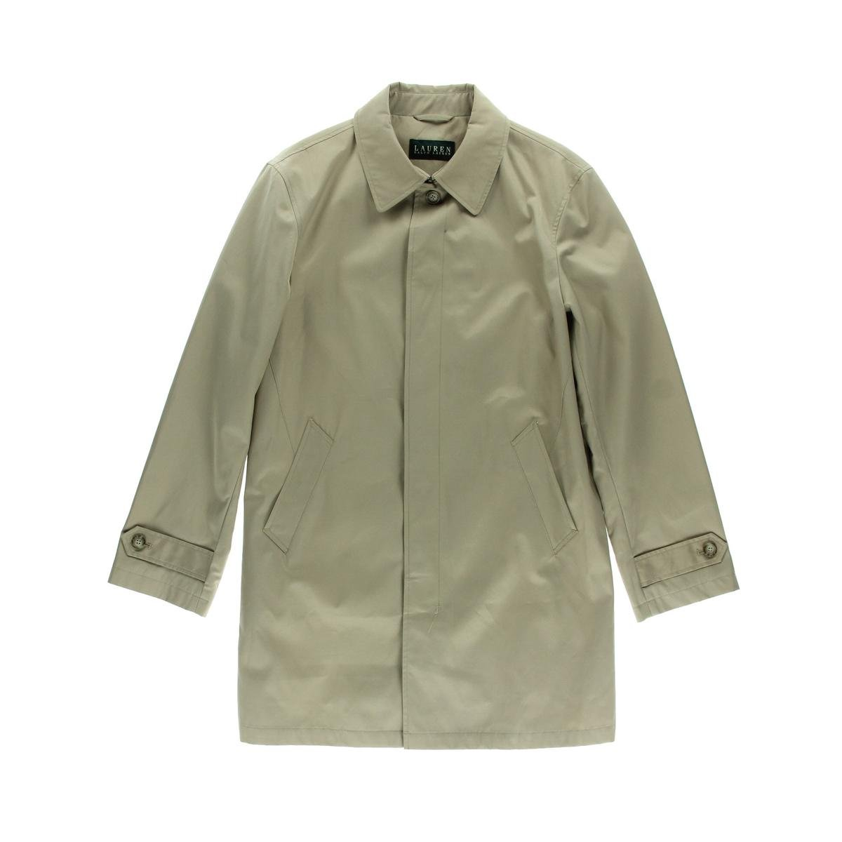 Lauren Ralph Lauren Mens Stanza Water Resistant Lined Raincoat Tan 42S by Lauren by Ralph Lauren