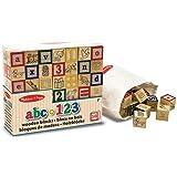 Melissa & Doug Wooden ABC/123 Blocks by Melissa & Doug [並行輸入品]