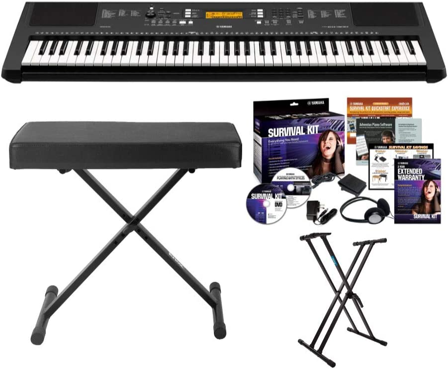 B075QR1T77 Yamaha PSREW300 76-key Portable Keyboard With Knox Adjustable Stand, Bench & Power Adapter 61xIWHQnjKL.SL1000_