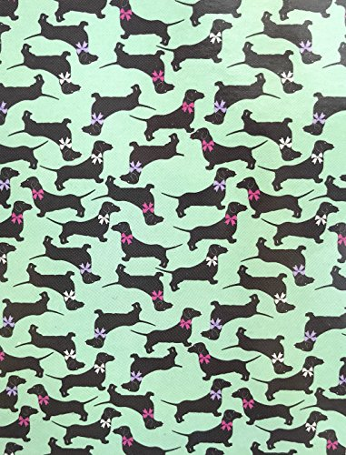 Warm and Snuggly Throw Blanket Dachshund Print 50x60 inch Mint Green by Warm and Snuggly