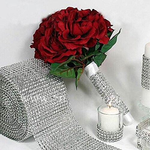 Bazaar Wedding Diamone Mesh Wrap Rhinestone Crystal Ribbon Wedding Party Decoration Big Bazaar