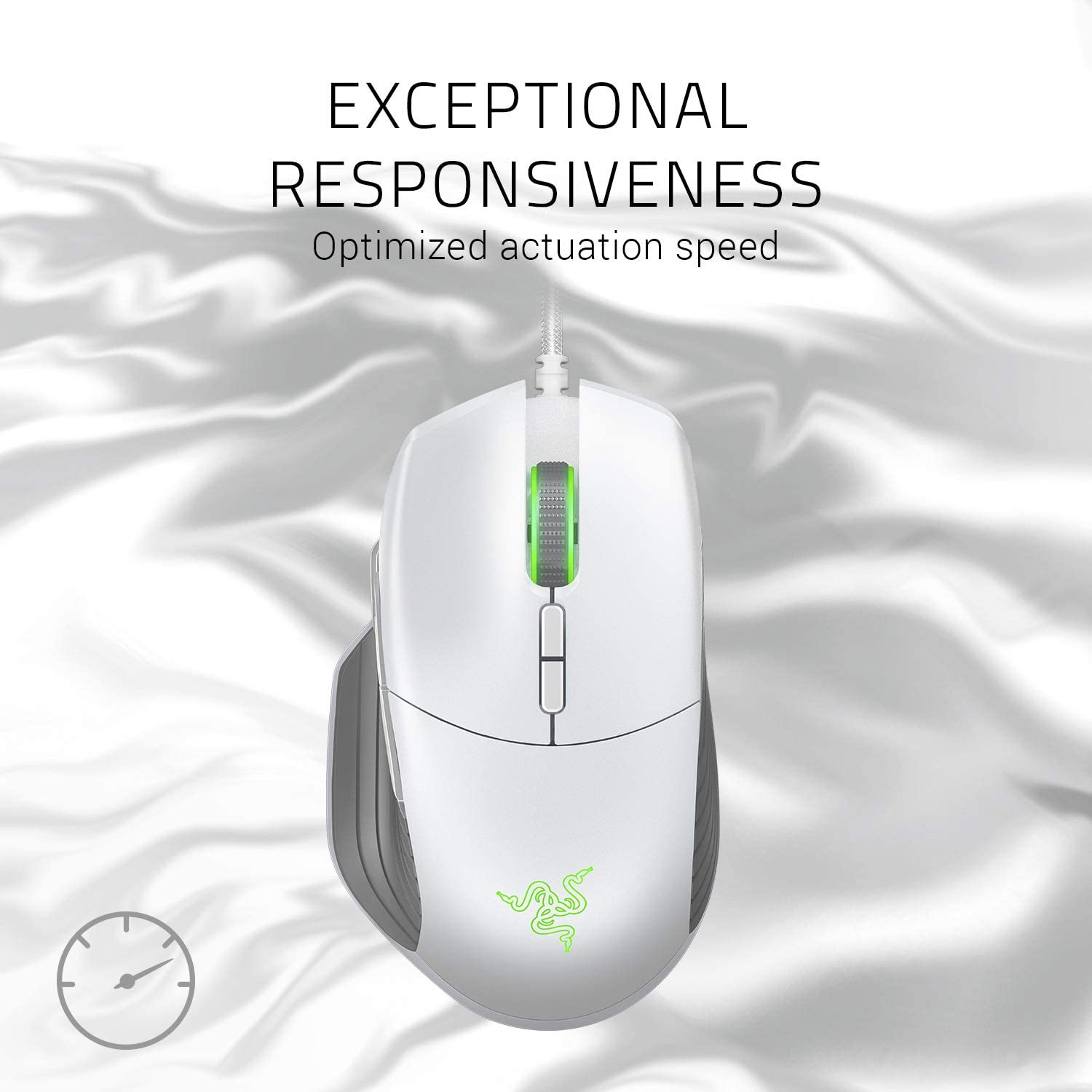Razer Basilisk Gaming Mouse + Mouse Bungee Bundle: Mercury White: Computers & Accessories