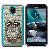 Galaxy J7 2018 Case,Galaxy J7 Refine Case,Galaxy J7 Star Case,Galaxy J7 V J7V 2nd Gen Case, Tznzxm 2 in 1 Shock Absorption Bling Diamond Sparkly Defender Protective Case For Samsung Galaxy J7 2018 Owl