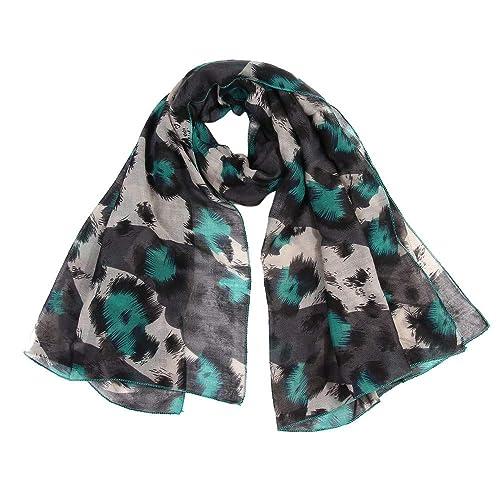 24b6609e2a4 Mjjsk Celebrity Hot Fashion Animal Pattern Leopard Print Super Soft Scarf  Wrap Shawl Birthday Gift for