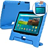Samsung Galaxy Tab 4 10.1 case for kids, fits Galaxy Tab 3 10.1 [SHOCK PROOF KIDS TAB 10.1 CASE] COOPER DYNAMO Kidproof Child Tab 4 10.1 inch Cover for Toddlers | Kid Friendly Handle & Stand (Blue)