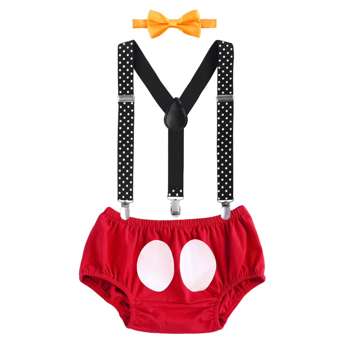 ae8c5756dc31 Mouse Infant Boy 1st Birthday Briefs Shorts Pants Suspender Photography  Props Photo Shoot Costume ▷◁ Y-back suspenders designed with 3 ...