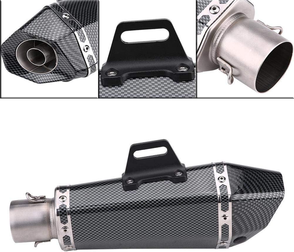 51mm Universal Motorrad Auspuffrohr mit DB Killer Motorrad Schalld/ämpfer Auspuffrohr