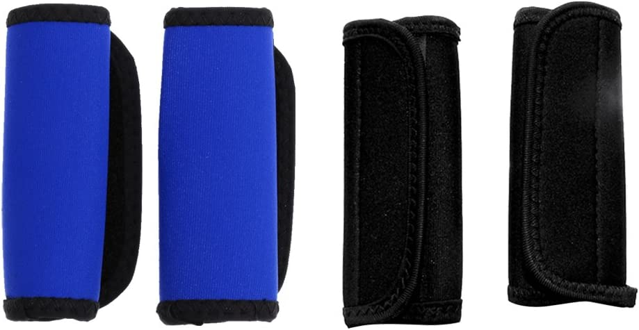 monkeyjack 2ペア製カヤックカヌーパドルグリップとループテープファスナー、Prevent水疱裂ける – Colors For Your選択 ブラックとブルー 11.5 x 14 cm