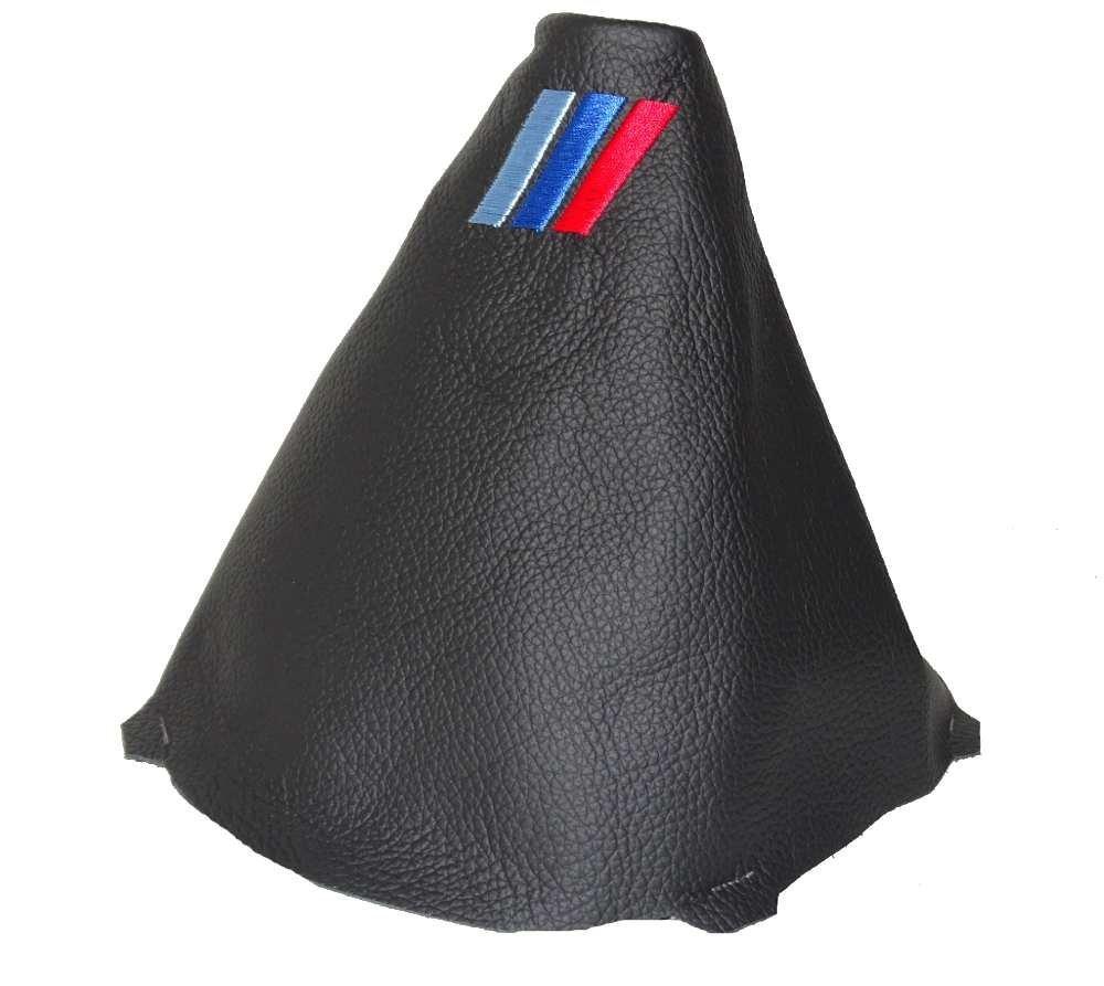 F/ür BMW 3-Serie E90//91//92//93/2005 12/Schaltsack schwarz Italienisches Leder Logo MPOWER