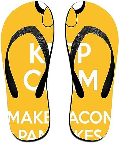 Z-YY Keep Clam And Free Womens Mens Lightweight Flip Flops Beach Slippers Shower Sandal