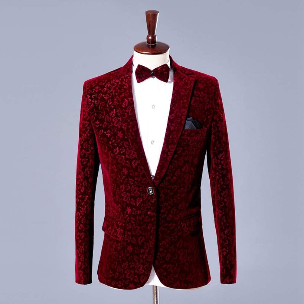 Yijinstyle Robe Slim Fit de Mari/é Masculin Costumes /Él/égant Adultes D/éguisement H/ôte de Sc/ène Costume de Chanteur
