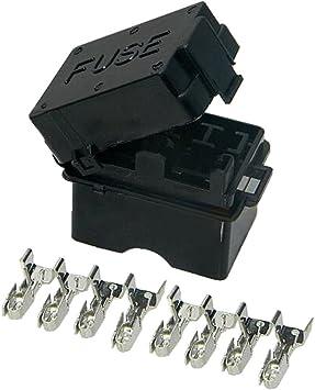 Amazon.com: 4 Way Auto fuse box assembly with terminals Dustproof fuse box  fuse box mounting fuse box BX2043: AutomotiveAmazon.com