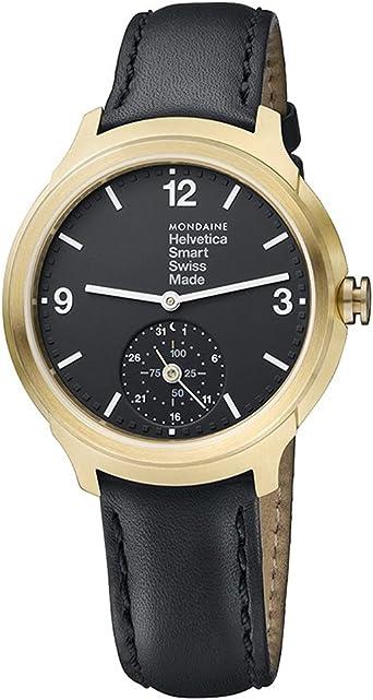 Mondaine Helvetica Smart 44mm MH1.B2S20.LB Reloj de Pulsera Cuarzo ...