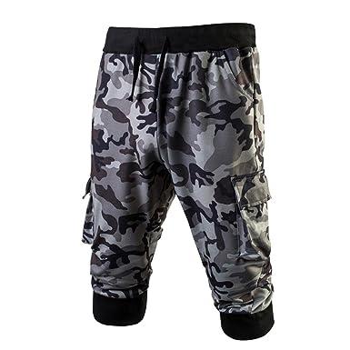 03aa7284bfc7 PASATO 2018 Summer New Classic Men Sport Gym Fitness Jogging Elastic  Stretchy Bodybuilding Sweatpants Camo(